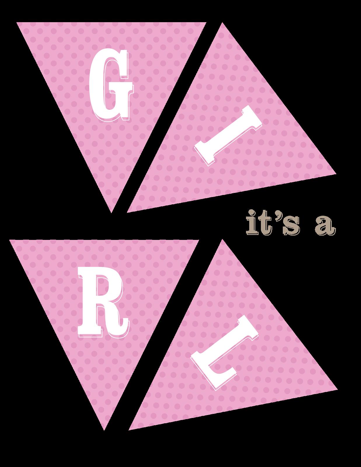 Its A Girl Banner Template Its A Girl Bann...