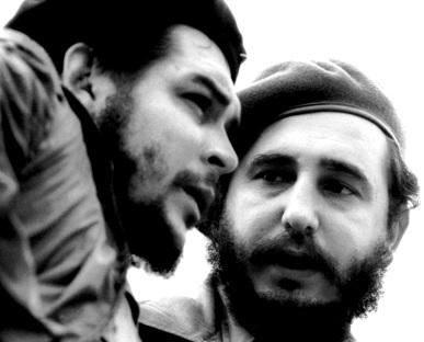 """Rostros de Fidel Castro junto a el """"Che"""" Guevara"""
