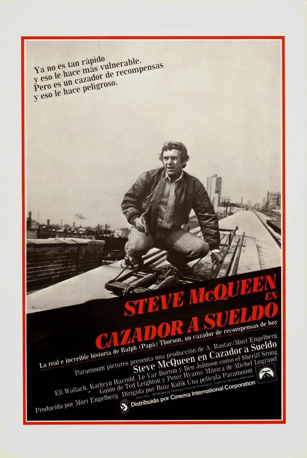 le steadyblog lobby card le chasseur steve mcqueen. Black Bedroom Furniture Sets. Home Design Ideas