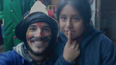 """En la ONG de Perú, solo se hacen fotos el día del """"show""""."""