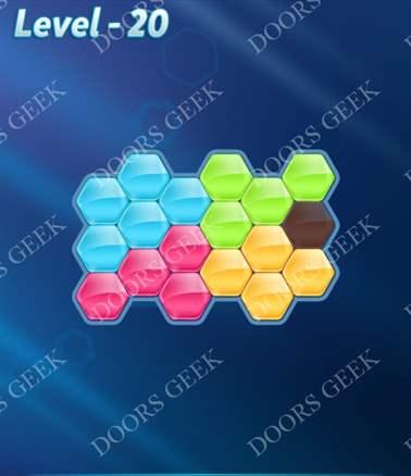 Block! Hexa Puzzle [Intermediate] Level 20 Solution, Cheats, Walkthrough for android, iphone, ipad, ipod
