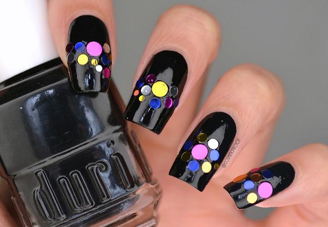 Duri Black Caviar Metallic Stud Nail Art