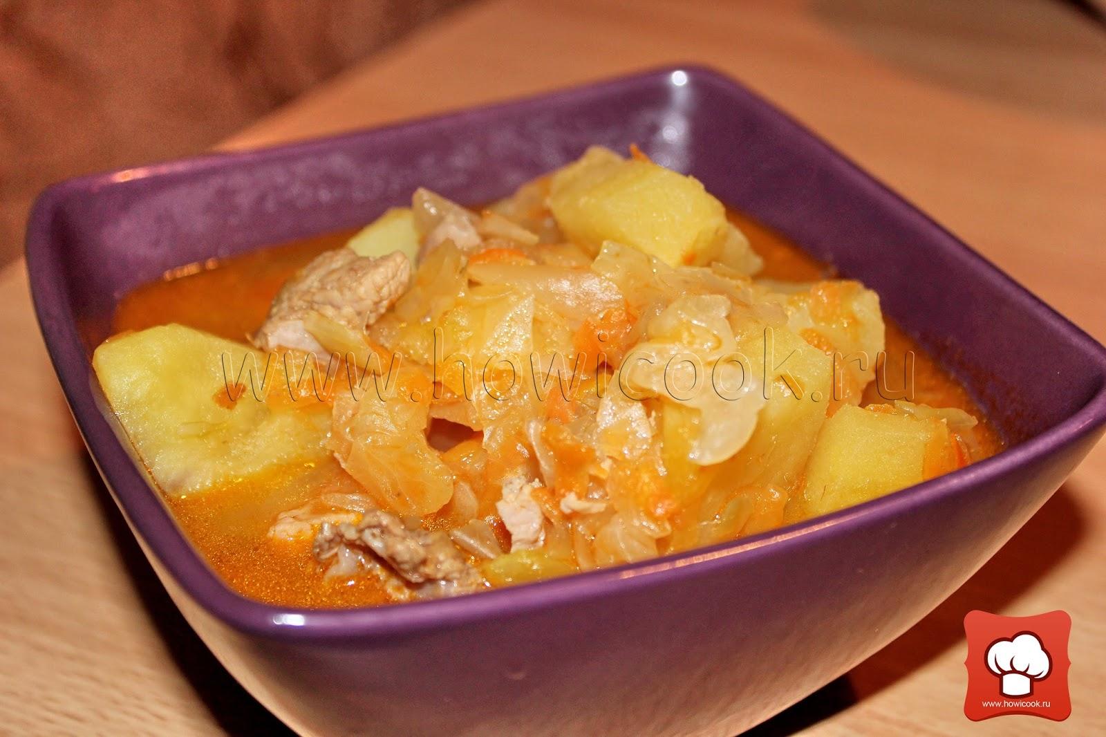 рагу с картошкой и квашеной капустой