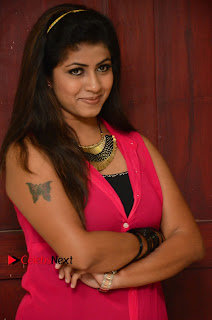 Geethanjali Pictures in Pink Dress at Avanthika Movie Opening