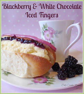 Blackberry & White Chocolate Iced Fingers