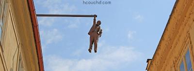 تمثال رجل معلق في براغ، جمهورية التشيك