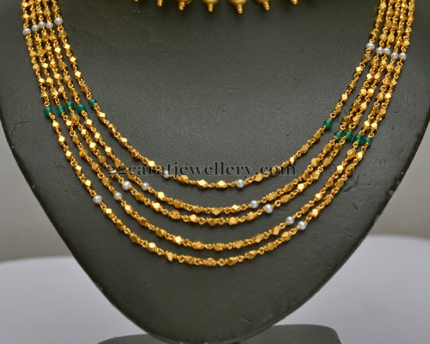 349625891a6ba Fancy Chains Gold Chandra Haar - Jewellery Designs