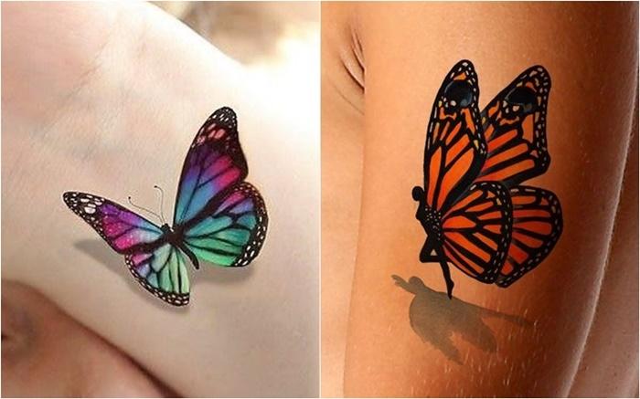3d Tattoo Schmetterling Coole Tattoos 3d Inspirierende Motive Und