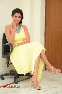 Actress Kruthika Jayakumar Latest Pictures in Yellow Dress  0139