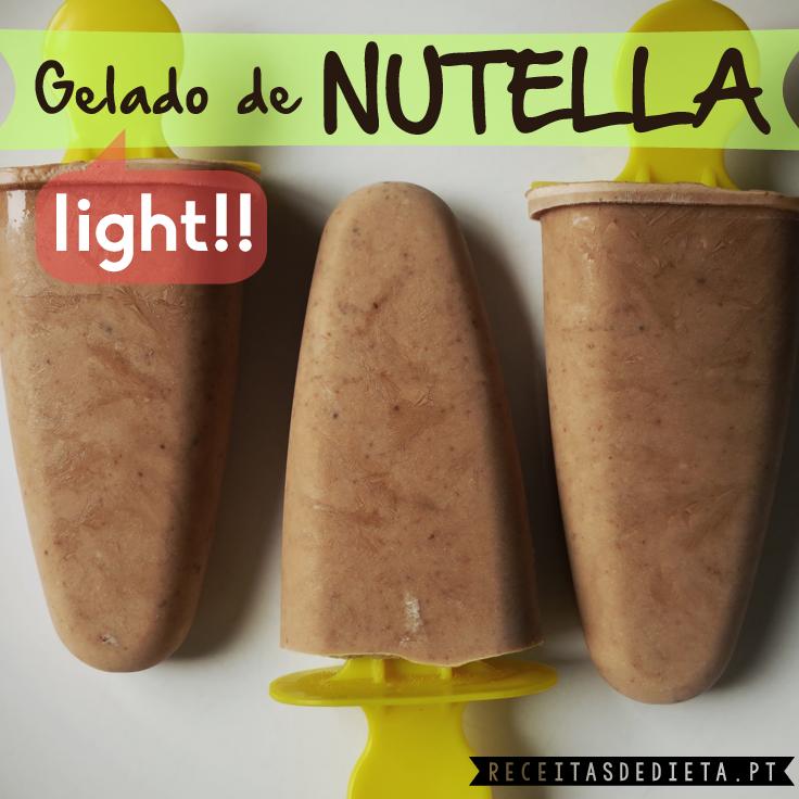 Gelado de Nutella Light (apenas 75 calorias!)