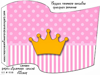 Pink Crown in Shabby Chic Free Party Printables.