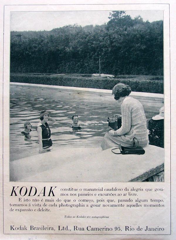 Propaganda antiga da Kodak veiculada nos anos 20