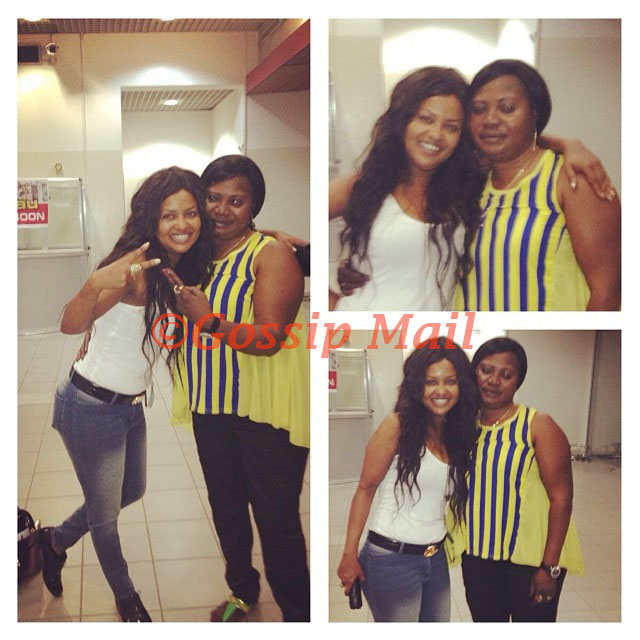 Nana Ama McBrown and her mum Madam Cecilia Agyenim Boateng