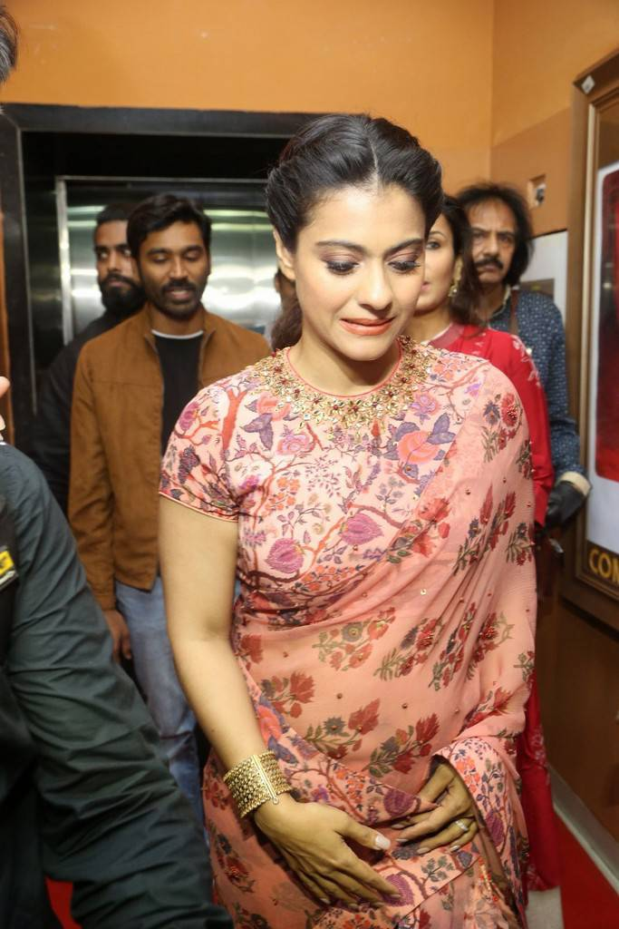 Kajol In Red Saree At VIP 2 Press Meet At Hyderabad
