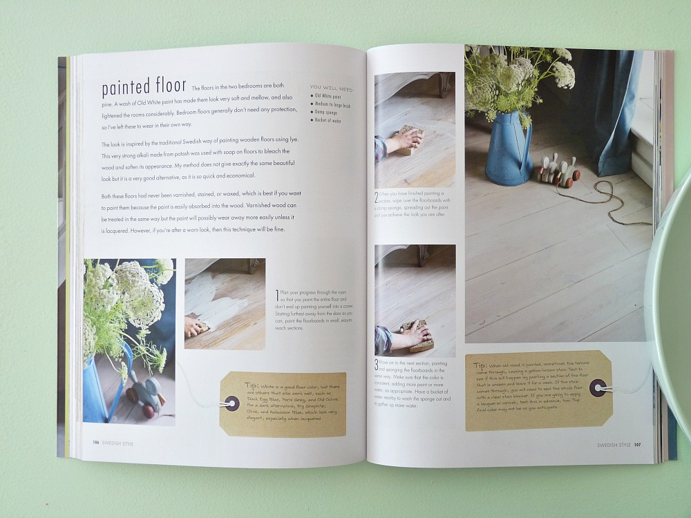 How to paint a floor with chalk paint