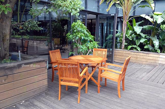 柚木餐桌椅組4
