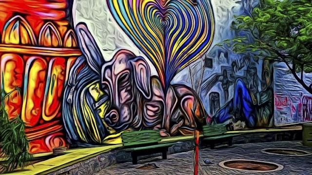 Mural en plaza de lÁrbol
