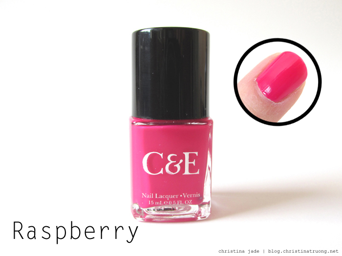 Crabtree & Evelyn Nail Polish Collection Swatches Raspberry Review