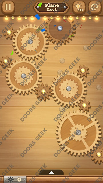 Fix it: Gear Puzzle [Plane] Level 1 Solution, Cheats, Walkthrough for Android, iPhone, iPad and iPod
