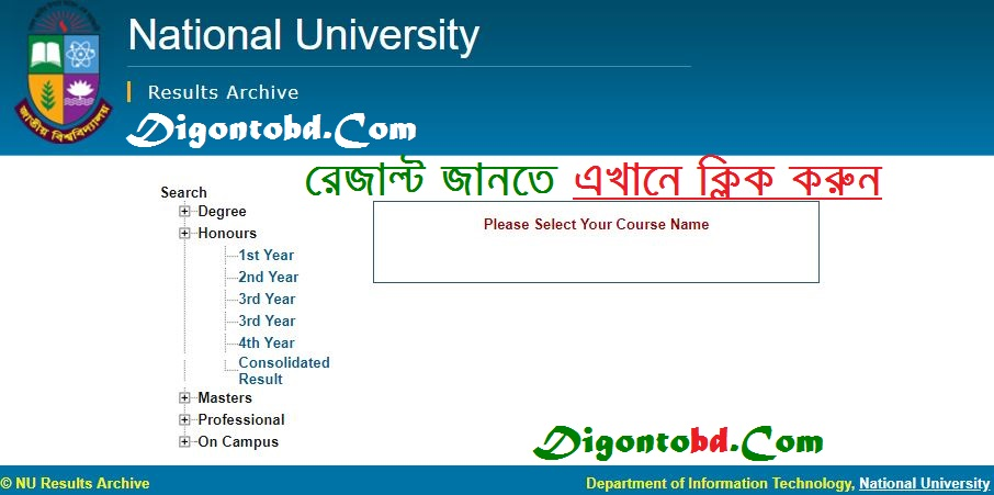 Honours Result 2018 National University bd