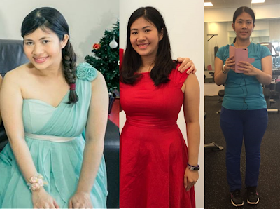Sweet Bunny - Singapore Fitness blogger before and after workout and weight transformation
