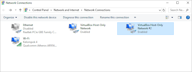 Konfigurasi IP client pada adapter VirtulaBox Host-Only Network #2