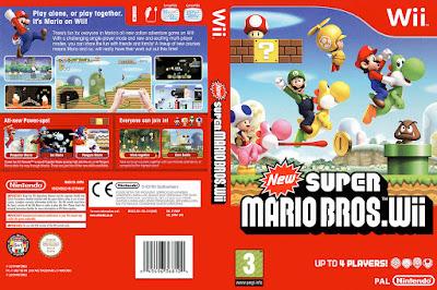 Jogo New Super Mario Bros. Wii DVD Capa
