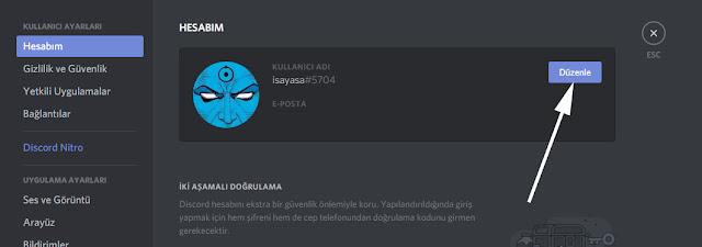 discord hesap kapatma