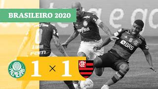 Gols – Palmeiras 1 x 1 Flamengo – Vasco 1 x 1 Red Bull Bragantino