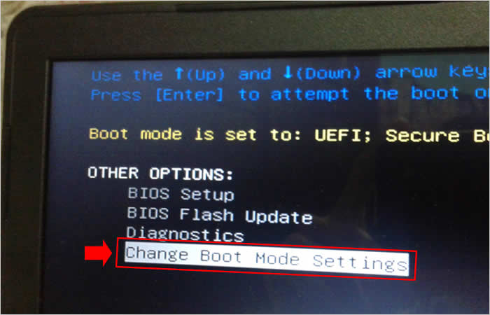 Acessando as configurações de Boot do notebook