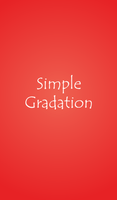 Simple Gradation -RED-
