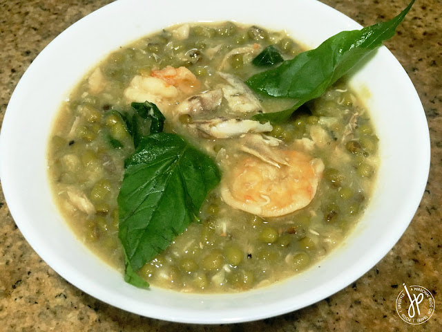 Monggo Guisado with shrimp