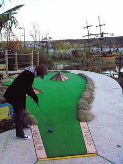 Pirate Cove Adventure Golf course at Bluewater Park in Kent