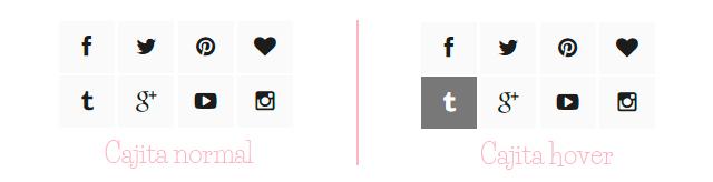 Crear icons sociales con font awesome y códigos CSS, se ve muy cute en tu blog y es muy fácil de hacer no hace falta que seas un experto en Css, estilo 1
