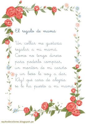 poesias para mamá