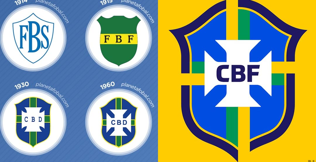 0bec4f844 It was by far not the first time that the Brazil national team crest has  been changed - we take a look at the full history of the Brazil national  team logo.