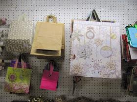 Sew Many Ways Workbench Turned Into Gift Wrap Center