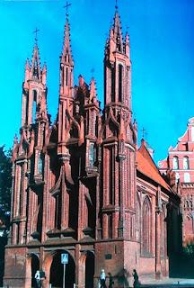 Kościół św.Anny w Wilnie - obecnie terytorium Litwy