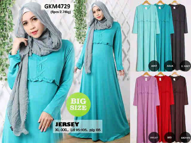 Gamis Bahan Jersey Polos GKM4729