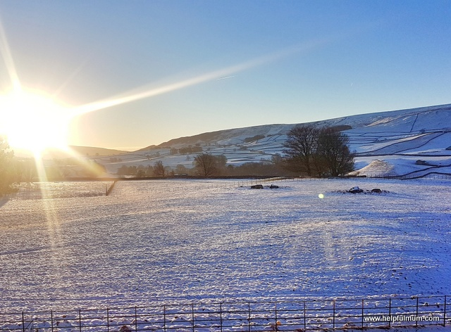 Snowy Yorkshire Dales