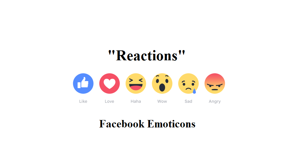 "Facebook Launches ""Reactions"" Emoticons Worldwide."