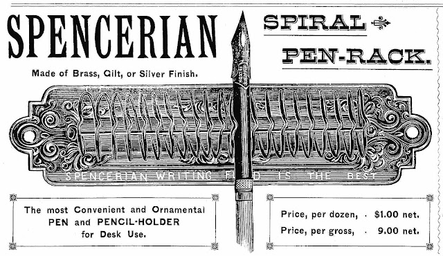 1884 spiral pen-rack by Spencerian