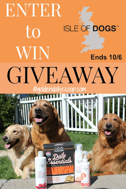 Isle of Dogs grooming products and treats giveaway