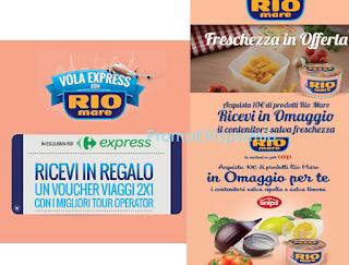 Logo Premi sicuri con Rio Mare: voucher viaggi e contenitori per alimenti