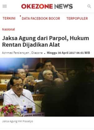 hoax jaksa agung non parpol