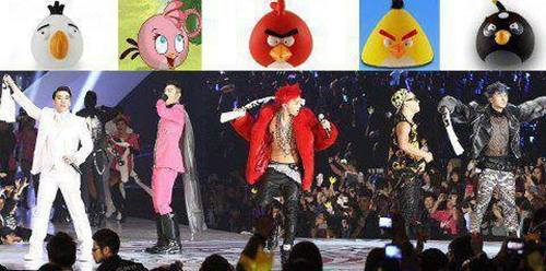 Pakaian Big Bang Ala Angry Birds
