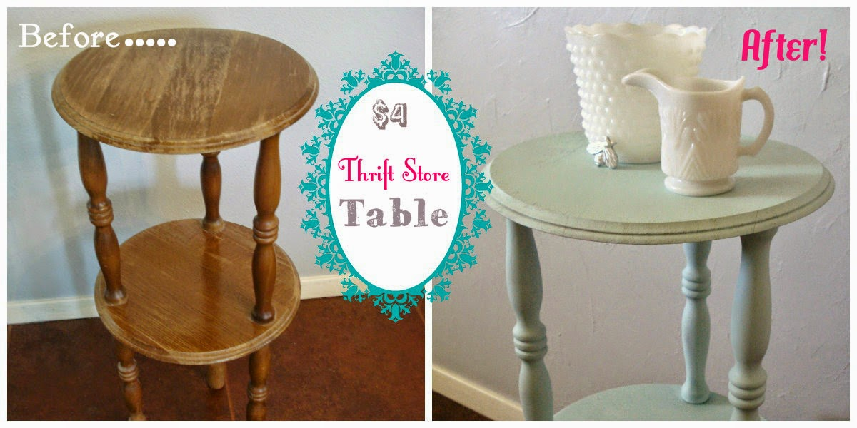 Vintage thrift store table transformed by paint