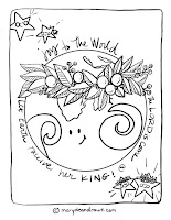 Joy to the World Christmas Carol coloring page
