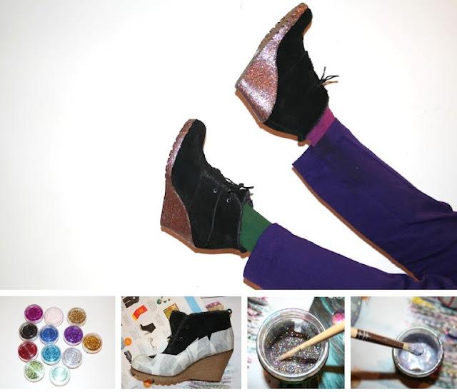 eski ayakkabı yenileme fikirleri