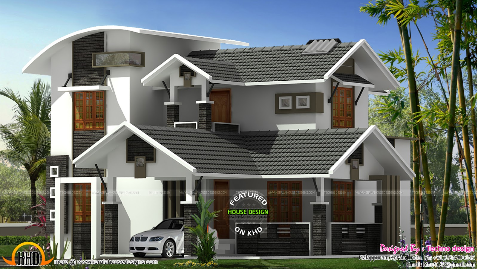 Modern Mix 2650 Sq Ft Home Kerala Home Design And Floor